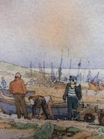 Watercolour & Ink Hastings Boats Listed Artist Valerie Sadler (6 of 10)