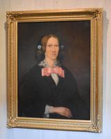 Victorian Naïve Portrait Oil Painting of a Lady (2 of 9)