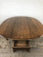 Early 20th Century Antique Oak Gateleg Dining Table (6 of 13)