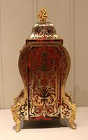 Small French Tortoiseshell and Brass inlay Mantel Clock (4 of 12)
