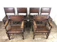 Set of Six Oak & Leather Dining Chairs (3 of 23)