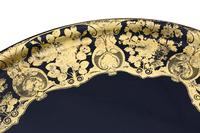 Victorian Decorated Black Lacquer Tray on Stand Coffee Table (8 of 11)