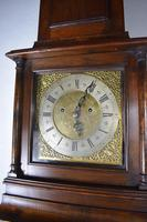 Small (77.5in) 8 Day Mahogany Grandfather Longcase Clock (6 of 7)