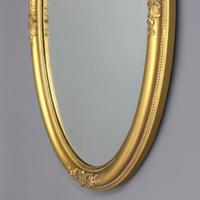 Late 19th Century Gilt Oval Bevelled Mirror with Acanthus Decoration c1880 (3 of 7)