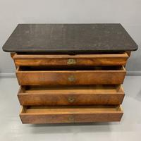 Figured Walnut and Marble Top Commode (12 of 13)
