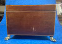 Georgian Mahogany Jewellery Box with Front Drawer (13 of 17)