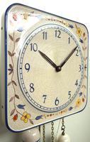 Rare Kitch Ceramic Pot Clock – Weight Driven 1950s Kitchen Striking Wall Clock (8 of 10)