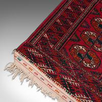 Antique Near Pair, Bokhara Rugs, Turkoman, Tekke, Carpet, Wall Covering, C.1910 (12 of 12)