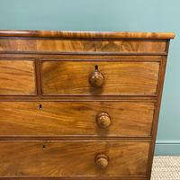 Victorian Country House Figured Mahogany Antique Chest of Drawers (3 of 6)