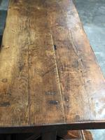 Huge Rustic Chestnut French Farmhouse Dining Table (8 of 27)