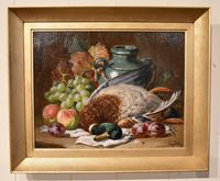 """Oil Painting Pair by Charles Thomas Bale """"Fruit and Game Larder Scenes"""" (6 of 10)"""