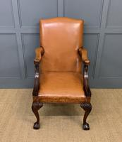 Leather Upholstered Gainsborough Armchair (4 of 12)