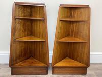 Pair of Mid Century G Plan E Gomme Pyramid Teak Open Corner Bookcases (4 of 38)