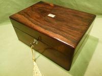 Inlaid Rosewood Jewellery – Vanity Box c.1860 (3 of 14)