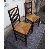 Good Pair of Country Spindle Back Chairs (6 of 6)