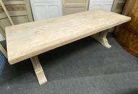 Large Bleached Oak French Farmhouse Dining Table (19 of 23)