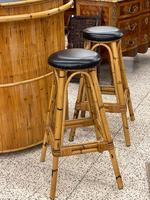 Retro French Bamboo Cocktail Bar & Stools (3 of 8)