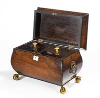 George III Period Mahogany Bombay Caddy (2 of 6)