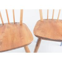 Pair of Ercol Windsor Chairs with Blue Legs (5 of 7)