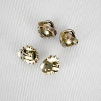 Marcasite Faux Pearl Clip on Earrings (3 of 3)