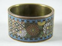 Antique Japanese Cloisonne Scroll Ring