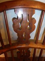 Matched Pair of Yew Windsor Chairs (10 of 13)