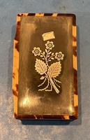 Victorian Horn & Tortoiseshell Snuff Box with Silver Inlay (11 of 16)