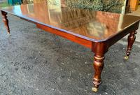 Victorian Mahogany Extending Dining Table with 3 Leaves seats 12 (5 of 8)