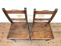 Pair of Country Bar Back Chairs (2 of 8)