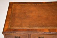 Antique Burr Walnut Leather Top Desk (9 of 10)