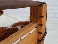 Scandinavian armchair, adjustable back, cowhide, 70s (9 of 20)