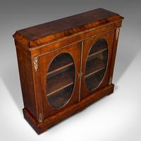 Antique Display Bookcase, English, Walnut, Boxwood, Empire, Cabinet, Regency (7 of 12)