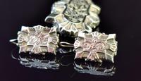 Victorian Silver Demi Parure, Earrings & Brooch (6 of 14)