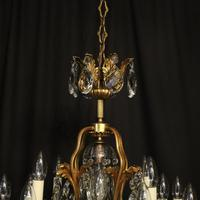French Gilded Bronze 17 Light Crystal Chandelier (3 of 10)
