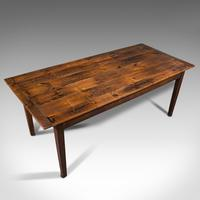 Antique Farmhouse Table, English, Pine, Country Kitchen, Dining, Victorian, 1900 (7 of 10)