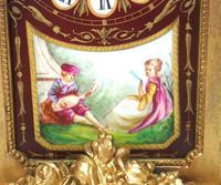 Incredible French Sevres Mantel Clock French Striking 8-day Garniture Clock Set (8 of 19)