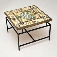 1960's Tiled Top Brass Coffee Table (3 of 18)