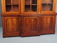 Antique George IV Mahogany Breakfront Library Bookcase (10 of 14)