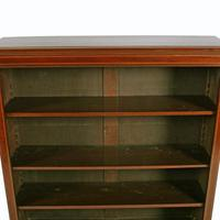 Inlaid Mahogany Open Bookshelves (6 of 7)