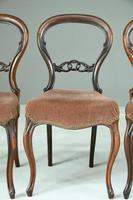 Set of 4 Rosewood Balloon Back Dining Chairs (5 of 12)
