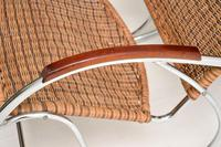 1970's Vintage Rattan & Chrome Rocking Chair (10 of 12)