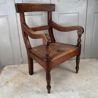 Antique Georgian Childs Mahogany Chair (4 of 10)
