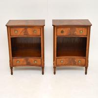 Pair of Antique Regency Style Mahogany Bedside Cabinets (10 of 10)