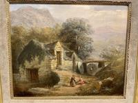 19th Century Charming Oil on Board of Welsh Mill (2 of 3)