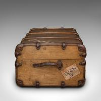 Large Antique Steamer Trunk, English, Cedar, Shipping Chest, Edwardian c.1910 (4 of 12)