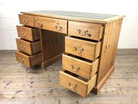 Late 20th Century Pine Pedestal Kneehole Desk (9 of 14)