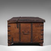 Antique Merchant's Chest, Oriental, Solid Teak, Trunk, William III c.1700 (4 of 12)