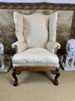 Large Wingback Armchair for Recovering (2 of 10)