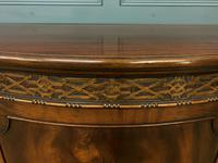 Mahogany Chippendale Style Demi Lune Commode (4 of 12)