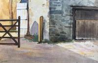Original Watercolour 'Farmyard, Kenn, Somerset' by Percy Paddern (2 of 2)